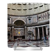 Inside The Pantheon Shower Curtain