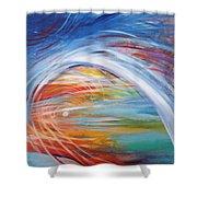 Inside The Rainbow Shower Curtain