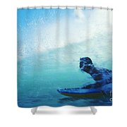 Inside The Wave Shower Curtain