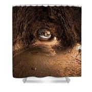 Inside Thurstons Lava Tube Shower Curtain
