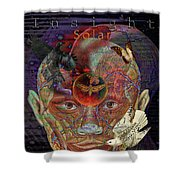 Insight To Speak Of..  Solar Shower Curtain by Joseph Mosley