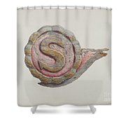 "Insignia Letter ""s"" Shower Curtain"