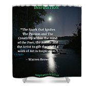 Inspiration In Darkness Shower Curtain