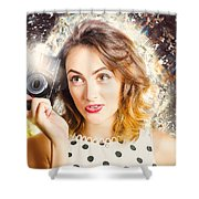 Inspiration Of A Creative Pinup Photographer  Shower Curtain