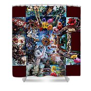 Inspireation With Walls Shower Curtain