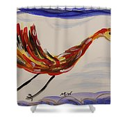 Inspired By Calder's Only Only Bird Shower Curtain