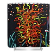 Inspired By Chihuly Shower Curtain