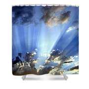 Inspiring Sunburst Shower Curtain