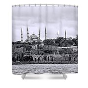 Instanbul In Black And White Shower Curtain