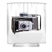 Instant Vintage Polaroid Camera Shower Curtain