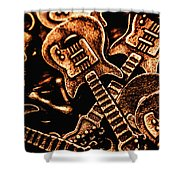 Instrumental Abstract Shower Curtain