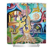 Instrumental Duties Shower Curtain