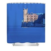 Intensely Blue Shower Curtain