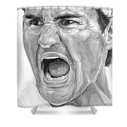 Intensity Federer Shower Curtain by Tamir Barkan