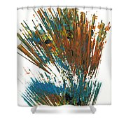 Intensive Abstract Expressionism Series 64.102511 Shower Curtain