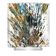 Intensive Abstract Painting 519.112011 Shower Curtain