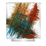 Intensive Abstract Painting 710.102610 Shower Curtain