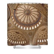Inter Domes Of Sultan Ahmed Mosque Shower Curtain