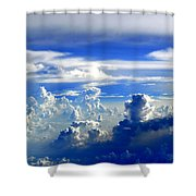 Interacting Clouds Shower Curtain