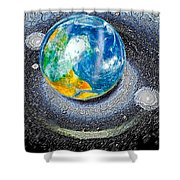 Interactive Space 2 Shower Curtain
