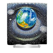 Interactive Space Shower Curtain