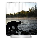 Interesting Mississippi River Dawn Shower Curtain