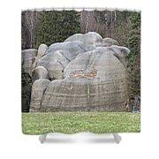 Interesting Rock Formation - Elephant Rocks Shower Curtain