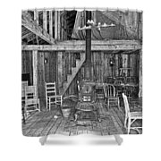 Interior Criterion Hall Saloon - Montana Territory Shower Curtain by Daniel Hagerman