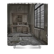 Interior Furniture Atmosphere Of Abandoned Places Dig Photo Shower Curtain by Enrico Pelos