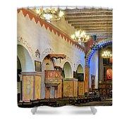 Interior Image Of San Juan Bautista Mission Shower Curtain
