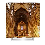 Interior Of Strasbourg Cathedral Shower Curtain