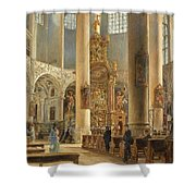 Interior Of The Franciscan Church Salzburg Shower Curtain