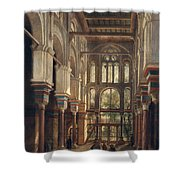 Interior Of The Mosque Of El Mooristan In Cairo Shower Curtain