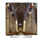 Interior Of The National Cathedral Shower Curtain