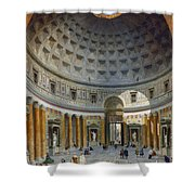 Interior Of The Pantheon Shower Curtain