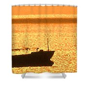 Interisland Freighter Shower Curtain