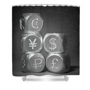 International Currency Symbols Shower Curtain