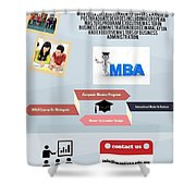 International Master Of Business Administration Shower Curtain