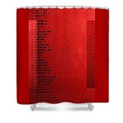 International Morse Code - Black On Red Shower Curtain