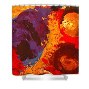 Interplanetary Encounter Shower Curtain