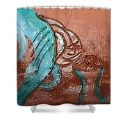 Interplay  - Tile Shower Curtain