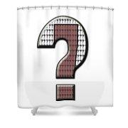 Interrobang 7 Shower Curtain
