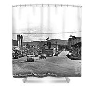 Intersection Of Alvarado And Calle Principal St.s, Monterey Circa 1940 Shower Curtain
