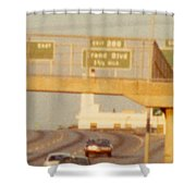 Interstate 44 West At Exit 287, Kingshighway Exit, 1980 Shower Curtain