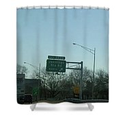 Interstate 70 East At Exit 242b, Jennings Sta. Rd North Exit, 1999 Shower Curtain