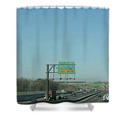 Interstate 70 West Approach Exit 238b, Interstate 170 South Exit, 1999 Shower Curtain