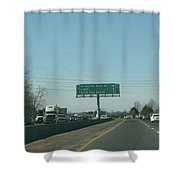 Interstate 70 West Approach Route 180 Exit, 1999 Shower Curtain