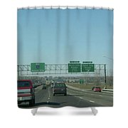 Interstate 70 West At Exit 231b, Earth City Expwy North Exit, 1999 Shower Curtain