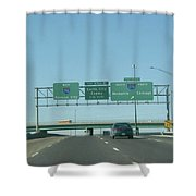 Interstate 70 West At Exit 232, Interstate 270 Exits, 1999 Shower Curtain