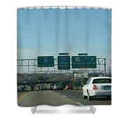 Interstate 70 West At Exit 234, Route 180 West Exit, 1999 Shower Curtain